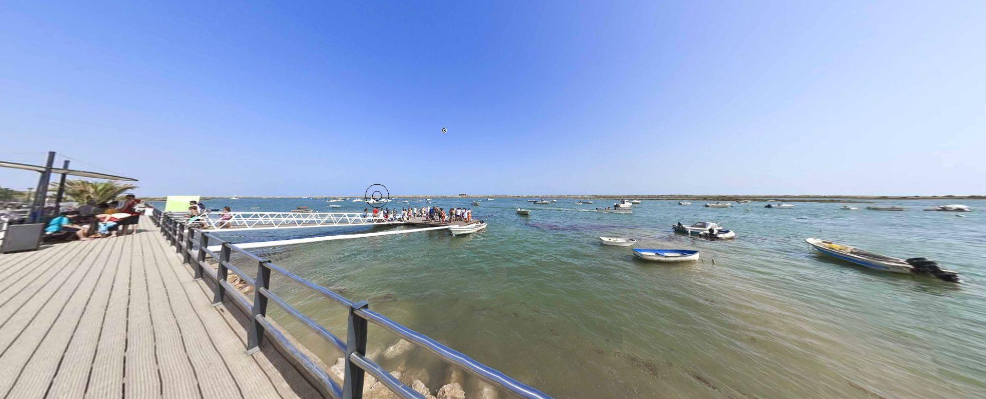 cais de embarque para praia cabanas de tavira