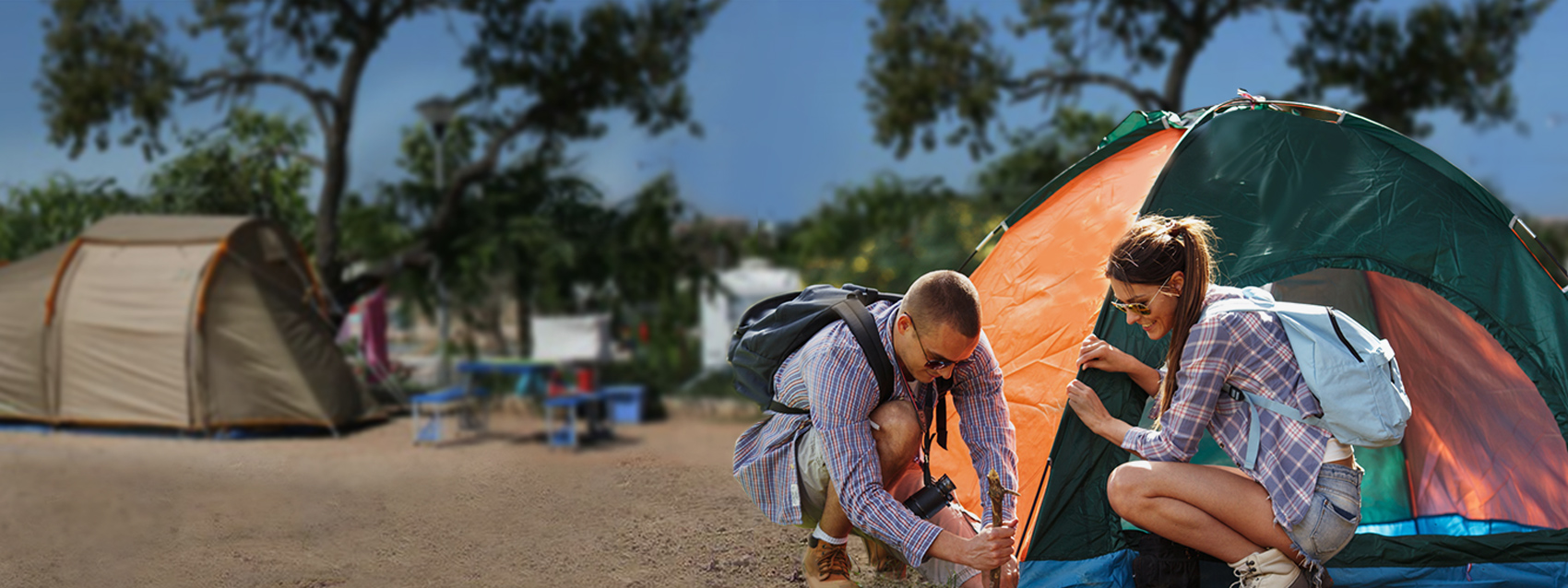 Individual plots for tents perfectly fitted for tents - Camping Ria Formosa in Algarve