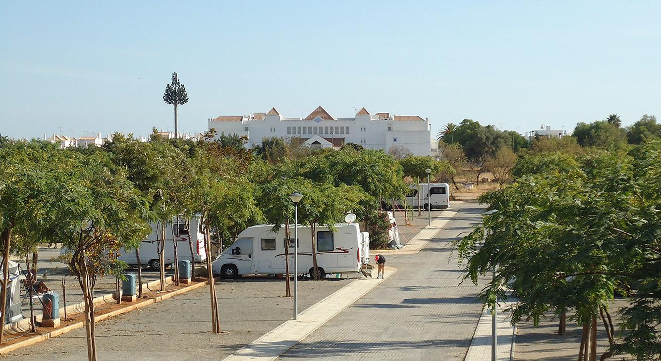 Caravans and Campervans - camping ria formosa Algarve